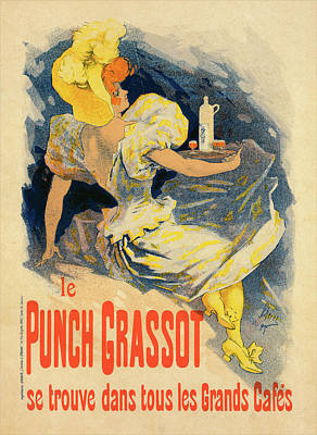 Punch Painting - Poster For Punch Grassot, Chéret, Jules 1836-1932 by Liszt Collection