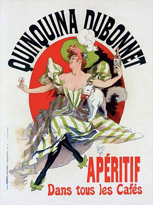 Poster For Quinquina Dubonnet. Chéret, Jules 1836-1932 Art Print by Liszt Collection