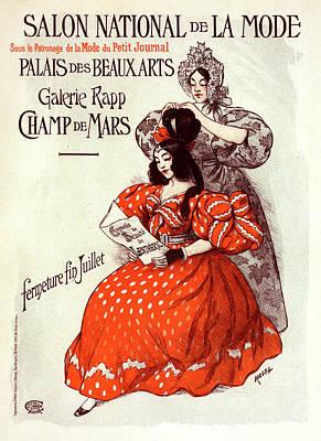 Affiche Drawing - Poster For Salon De La Mode by Liszt Collection