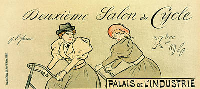 Affiche Drawing - Poster For Salon Du Cycle by Liszt Collection