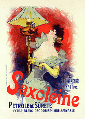 Lamplight Painting - Poster For Saxoléine. Chéret, Jules 1836-1932 by Liszt Collection