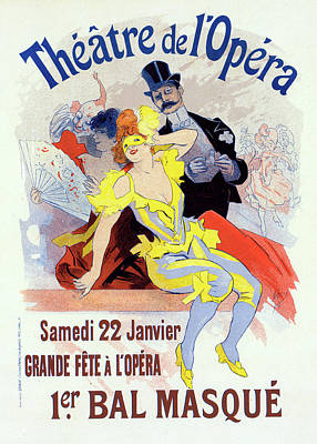 Grande Painting - Poster For The 1er. Bal Masqué, La Grande Fête à Lopéra by Liszt Collection
