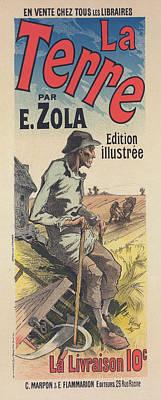 Poster For The Book Of M. Émile Zola, La Terre Art Print