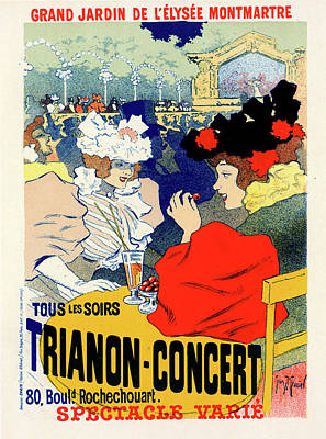 Poster For Trianon-concert. Georges Meunier Art Print by Liszt Collection