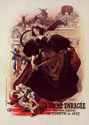 Affiche Drawing - Poster For Vache Enragée by Liszt Collection