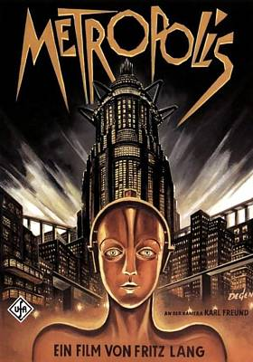 Period Drawing - Poster From The Film Metropolis 1927 by Anonymous