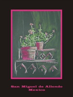 Poster - Green Geranium Art Print by Marcia Meade