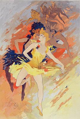 Evening Dress Painting - Poster La Danse, The Dance. Chéret, Jules 1836-1932 by Liszt Collection