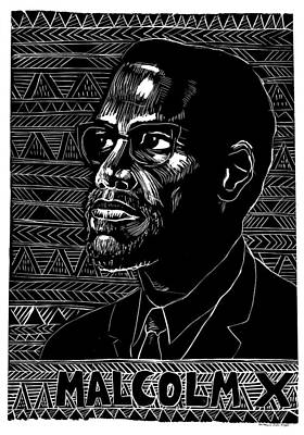 X-men Painting - Poster Malcolm X, 1976 by Granger