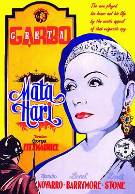Ma. Drawing - Poster Of Mata Hari by Art Cinema Gallery