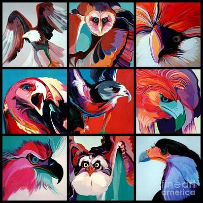 Painting - Poster Of Predators by Marlene Burns