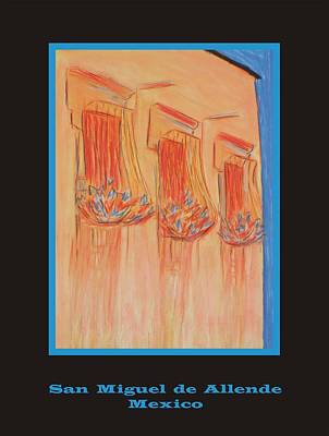 Poster - Orange Balconies Art Print by Marcia Meade