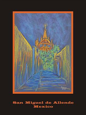 Pastel - Poster - Parroquia From The Back by Marcia Meade