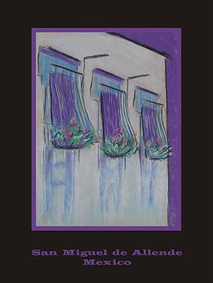 Poster - Purple Balcony Art Print by Marcia Meade