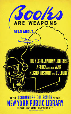 African-american Drawing - Poster Reading, C1942 by Granger