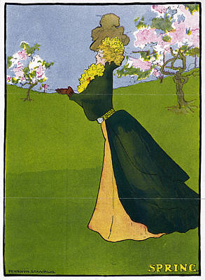 Cherry Blossom Drawing - Poster Spring, 1907 by Granger