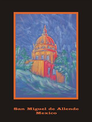 Pastel - Poster - The Basilica by Marcia Meade
