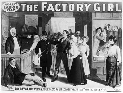 Policeman Painting - Poster The Factory Girl by Granger