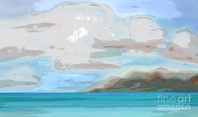 Posterized Landscape Alaska  Art Print