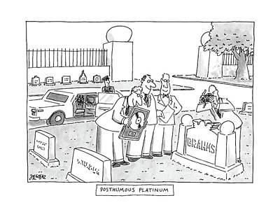 Platinum Drawing - Posthumous Platinum by Jack Ziegler