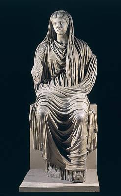 Ancient Rome Photograph - Posthumous Statue Of Livia by Roman School