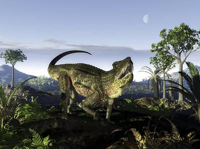Triassic Photograph - Postosuchus Archosaur, Artwork by Science Photo Library