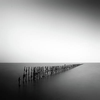 Photograph - Posts In Sea by Anthony Skelton