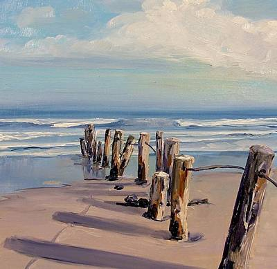 Painting - Posts Just Touch The Water by Dianna Poindexter