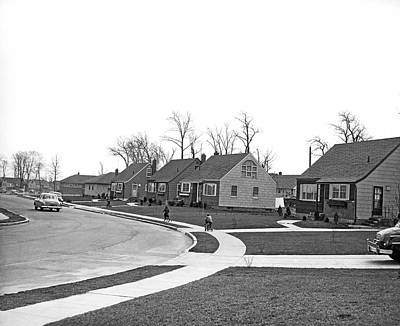 Postwar Housing Development Art Print