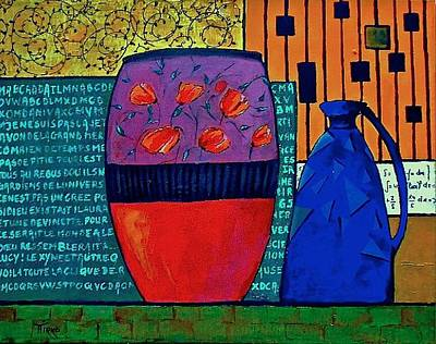 Painting - Pot Aux Tulipes Rouges by Mirko Gallery