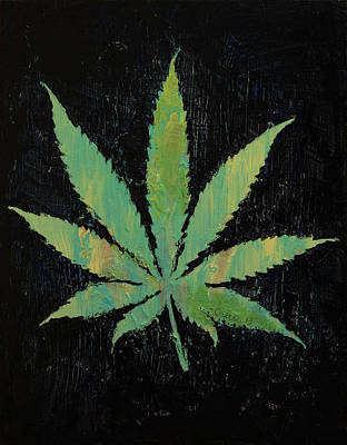 Trippy Painting - Pot Leaf by Michael Creese