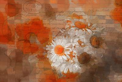 Photograph - Pot Of Daisies 02 - J33027100rgn1c by Variance Collections