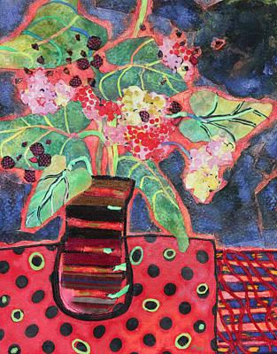 Pot Of Ferns Art Print by Diane Fine
