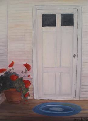 Painting - Pot Of Geraniums by Glenda Barrett