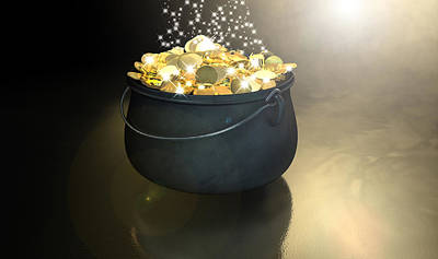 Crocks Digital Art - Pot Of Gold by Allan Swart