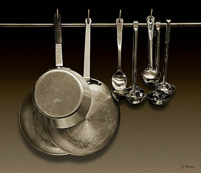 Ladle Photograph - Pot Pans Spoons And Ladles by Joe Bonita