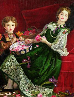 Millais Painting - Pot Pourri  by Sir John Everett Millais
