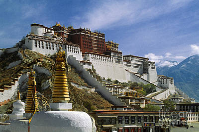 Photograph - Potala And Stupas - Lhasa by Craig Lovell