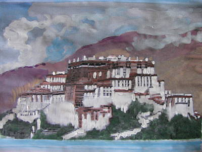 Potala Palace In Lhasa Tibet Art Print