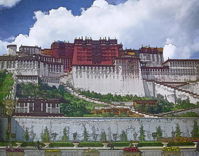 Relic Photograph - Potala Palace by Joan Carroll