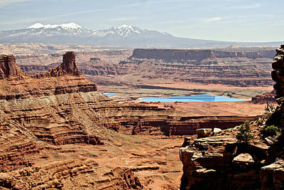 Photograph - Potash Evaporation Ponds Dead Horse Point by SC Heffner