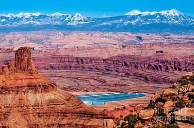 Potash Mine Canyonlands - Utah Print by Gary Whitton