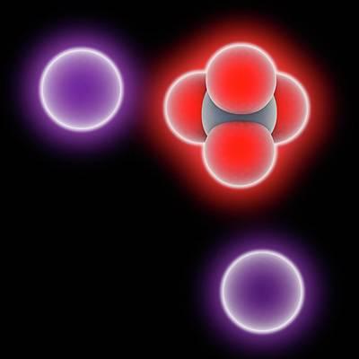 Potassium Chromate Molecule Art Print