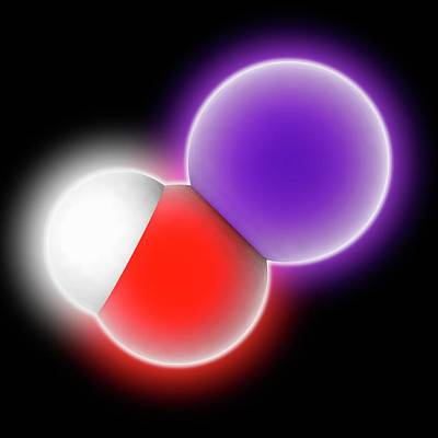 Potassium Hydroxide Molecule Art Print
