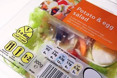 Potato And Egg Salad Art Print by Mark Sykes