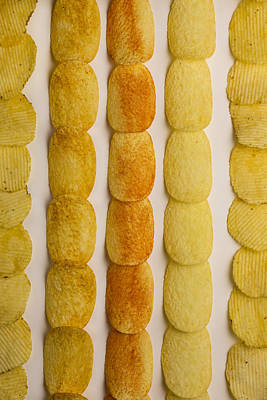 Pasta Al Dente - Potato Chip Rows 3 by John Brueske