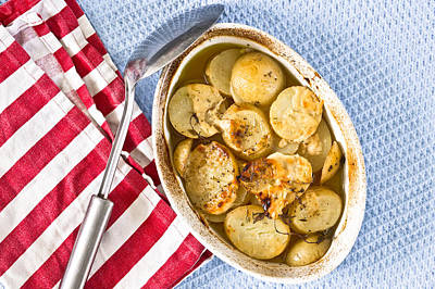 Potato Chips Photograph - Potato Dish by Tom Gowanlock