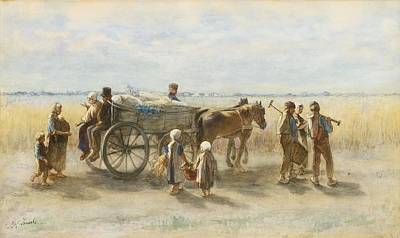 Jozef Israels Painting - Potato Harvest by Celestial Images