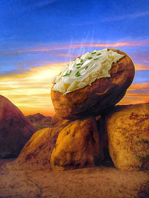 Potato Mixed Media - Potato Rock by Snake Jagger
