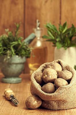 Spuds Photograph - Potatoes by Amanda Elwell